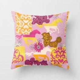 Dream Horses Throw Pillow