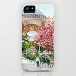 St. Sophia in Spring iPhone Case