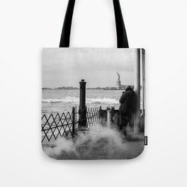 Liberty from the back of The Boat Tote Bag