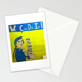 Jewish Rosie the Riveter Stationery Cards