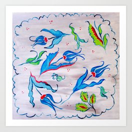 Bosphorus Blues Art Print