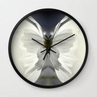 butterfly Wall Clocks featuring Butterfly by Monika Strigel