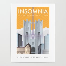 Insomnia (Final Fantasy XV) Travel Poster Poster