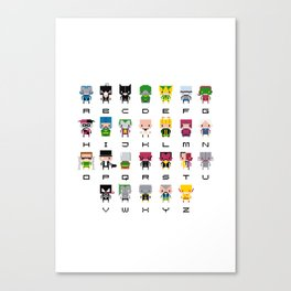 Pixel Supervillain Alphabet 2 Canvas Print