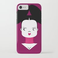 bjork iPhone & iPod Cases featuring Bjork by Marco Recuero