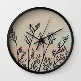 Trees in Winter Wall Clock