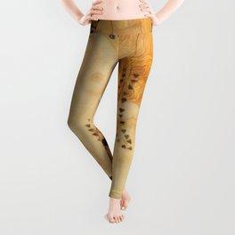 Water Serpents Gustav Klimt Leggings