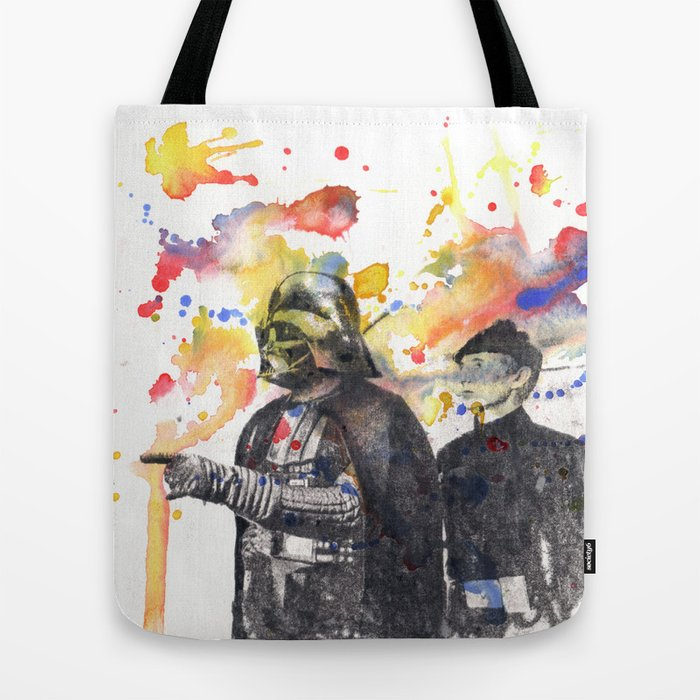 Darth Vader Pointing Leia Star Wars Movie Scene Tote Bag