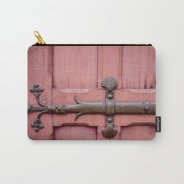 Red Door Architectural Detail in Paris Carry-All Pouch
