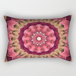 Maroon Fractal Rectangular Pillow