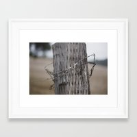 the wire Framed Art Prints featuring wire  by Stephanie Dana