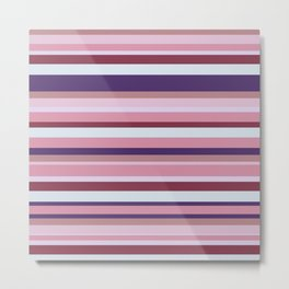 Retro mood stripes Metal Print