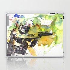 Boba Fett Firing off Green Color Laptop & iPad Skin