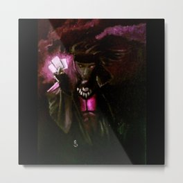 Play Your Cards Metal Print