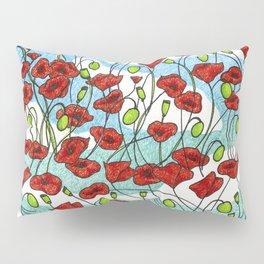 Field Poppies Pillow Sham