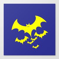 bat Canvas Prints featuring Bat by Spooky Dooky