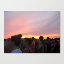 love like a sunset Canvas Print