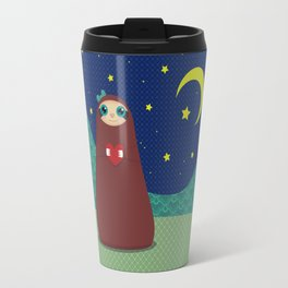 Zaza takes a night stroll Travel Mug