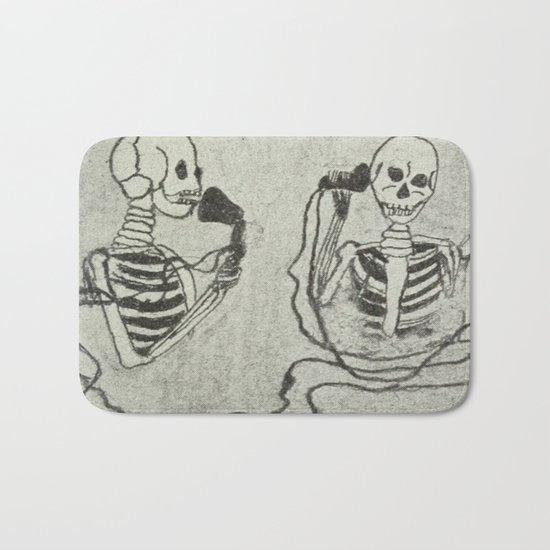 Skeleton's telephone. Bath Mat