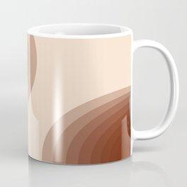 Earthy Ombre Ovals: Rust Orange Coffee Mug