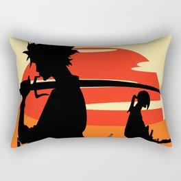 Sharp Like An Edge Of A Samurai Sword Rectangular Pillow