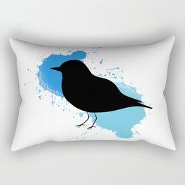 Black Bird Watercolour 2 Rectangular Pillow