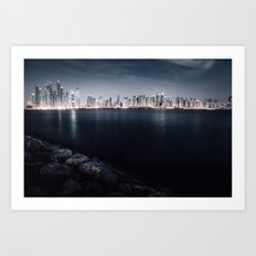 Dubai Night Art Print