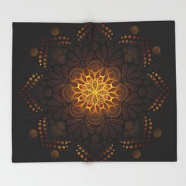 """Warm light Moroccan lantern Mandala"" Throw Blanket"