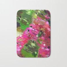 Summer Garden Abstract Bath Mat