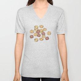 cookies pattern_brown Unisex V-Neck