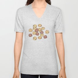 cookies pattern_brown Unisex V-Neck