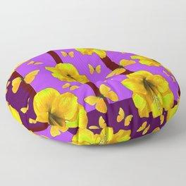 FOR THE LOVE OF BUTTERFLIES PURPLE ART Floor Pillow