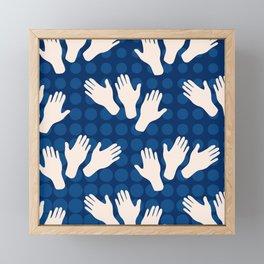 Waving Hands Framed Mini Art Print