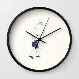 man with briefcase Wall Clock