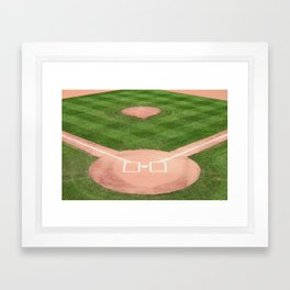 Baseball field Framed Art Print