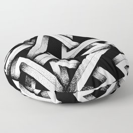 Impossible Penrose Triangles Floor Pillow
