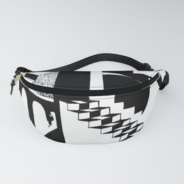 Abstraction. The illustration is monochrome. Fanny Pack