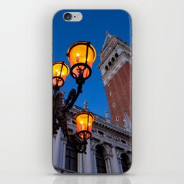 Morning at San Marco square. Campanile San Marco, Biblioteca Nazionale Marciana. iPhone Skin