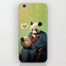 Wise Panda: Love Makes the World Go Around! iPhone Skin