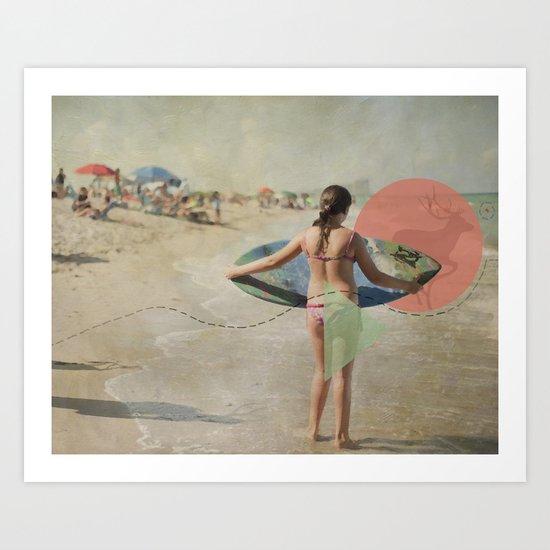 Surfer Art Print