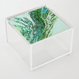 Green blue rivers Acrylic Box