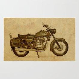 Ducat Condor 350 Militare 1973 old motorcycle militar war bike Rug