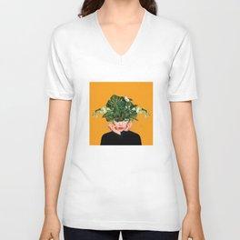 Lady Flowers || Unisex V-Neck