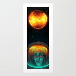 Burning Earth Art Print