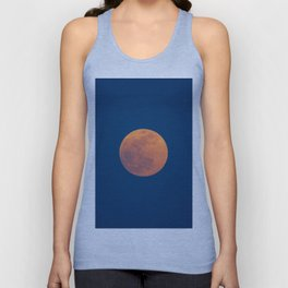 Red Moon, Moon, Blue Sky And Orange Unisex Tank Top