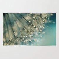sparkles Area & Throw Rugs featuring Indigo Sparkles by Sharon Johnstone