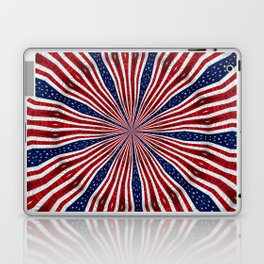 American Flag Kaleidoscope Abstract 1 Laptop & iPad Skin