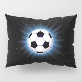 Spacey Soccer Ball Pillow Sham