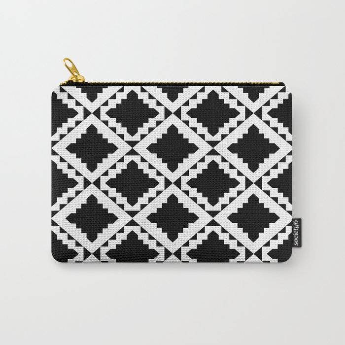 Modern Black Carry-All Pouch