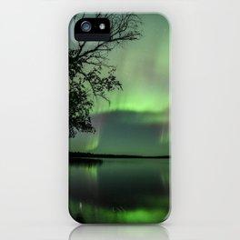 Aurora Borealis on the Water iPhone Case